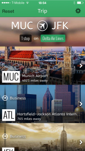 A screenshot of the app
