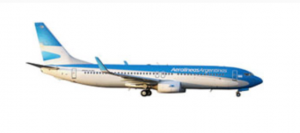 A Boeing 737-800 in Aerolineas Argentinas livery