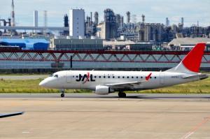 A J-Air plane at Tokyo's Haneda Airport