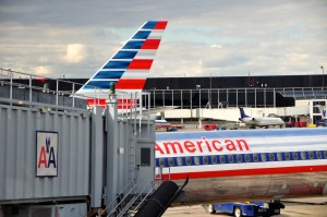 American's old and new liveries in Chicago
