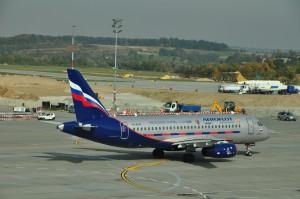 An Aeroflot aircraft in Krakow