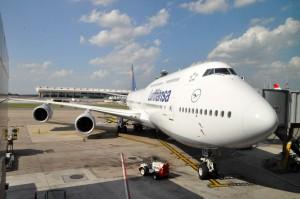 Boeing's 747-8 in Lufthansa livery