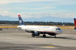 A US Airways aircraft in Seattle