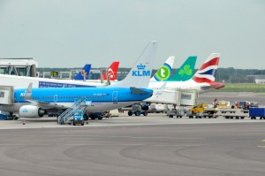 Aircraft at Amsterdam's Schiphol Airport