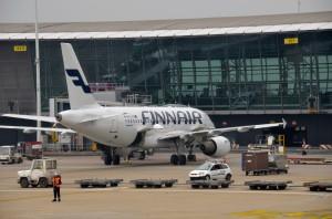 A Finnair aircraft in Brussels