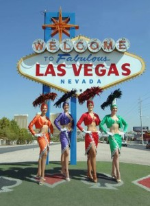 Showgirls at the Welcome Sign