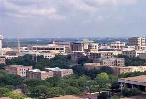 A portion of the Texas A&M University campus