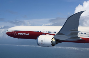 Rendering of the new Boeing 777X