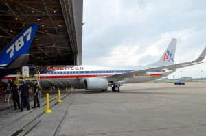 A new Boeing 737-800 at DFW