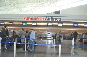 American Airlines check-in area at JFK