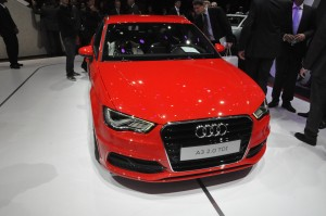 An Audi A3 at the Paris Motor Show