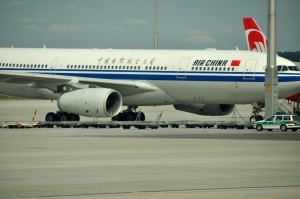 An Air China aircraft at Munich Airport
