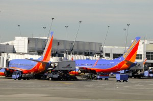 Southwest aircraft in Seattle