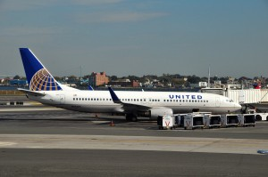 A United jet at LaGuardia