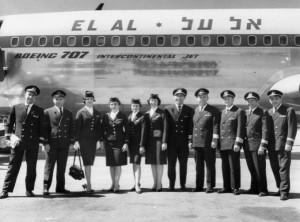 A Boeing 707 in El Al livery