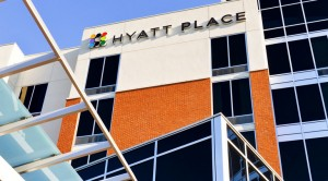 The exterior of the Hyatt Place