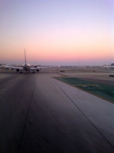An aircraft at LAX