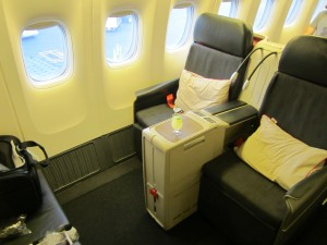 Turkish Airlines' business class seating