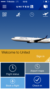 United's new app interface