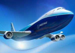 A Boeing 747-8 Freighter