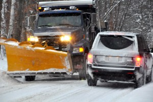 Snow plows were in evidence in many parts of the U.S. on Sunday