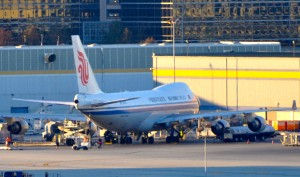 An Air China jet in Los Angeles