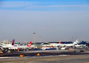 Aircraft at JFK earlier this year.