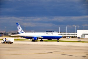 A United plane in Chicago