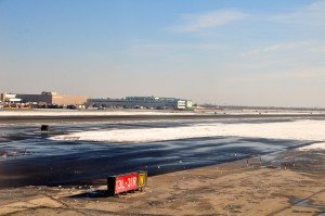 A runway at JFK. More snow is expected this weekend.