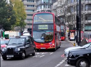 A London street earlier this week