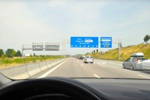 Driving on the Autobahn A9