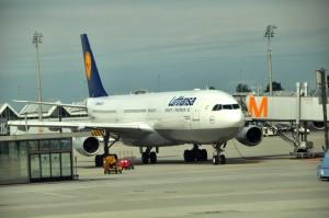 A Lufthansa jet in Munich