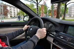 Behind the wheel of a BMW ActiveHybrid 5