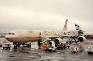 An Etihad aircraft in New York