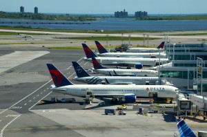 Delta aircraft at JFK's Terminal 4