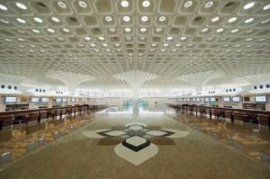 The naturally-lit terminal