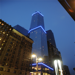 The Marriott hotel building