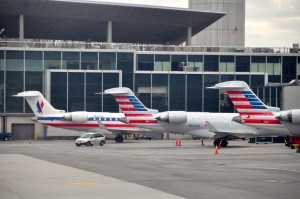 American Eagle planes at LaGuardia on Tuesday