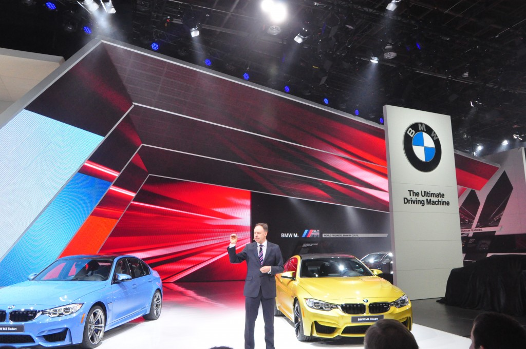 The BMW M3 and M4 on stage