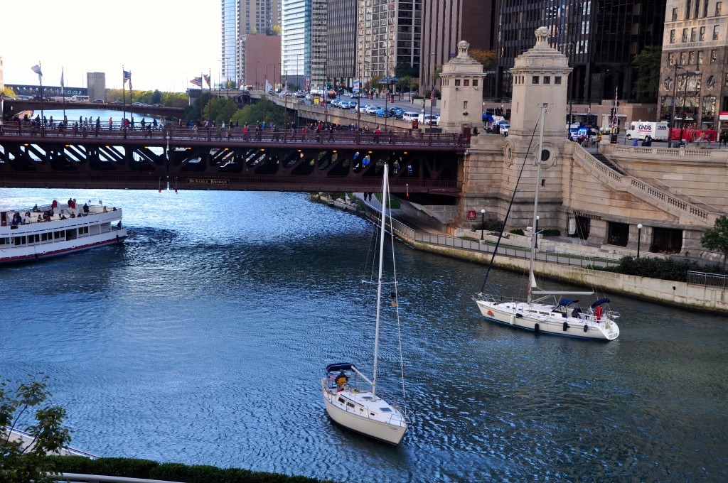 Chicago River in Chicago, Illinois