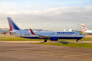 Transaero aircraft at London Heathrow