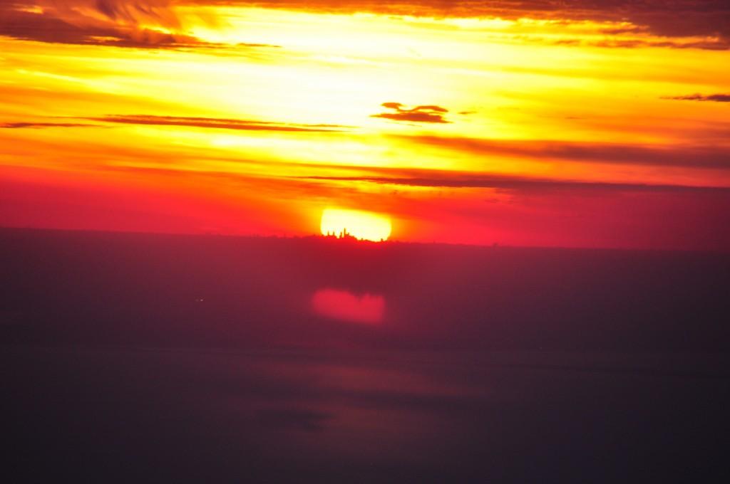 Sunset during the author's LAX-JFK flight