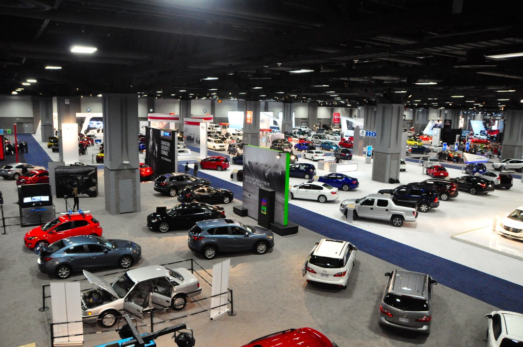 Washington Auto Show floor – The show floor on opening day