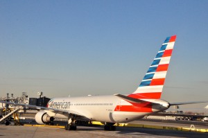 An American Airlines jet at JFK