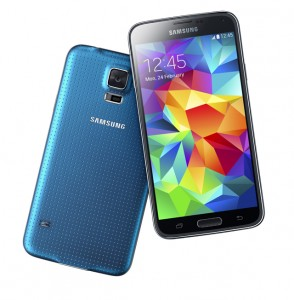 The front and back of the Galaxy S 5