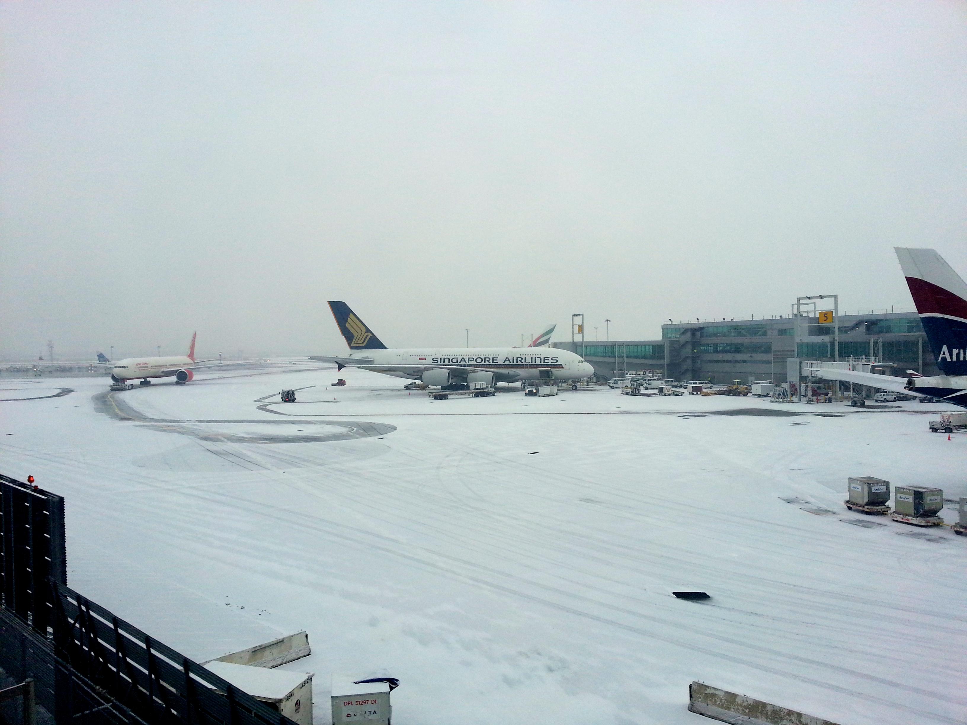 A snowy JFK