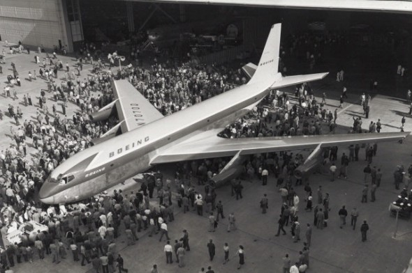 Rollout of the Boeing Dash 80