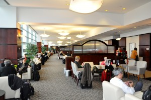 United Airline's lounge at Newark
