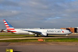 An American Airlines 777-300ER in London