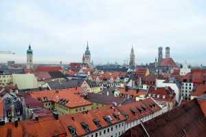 The rooftops of Munich